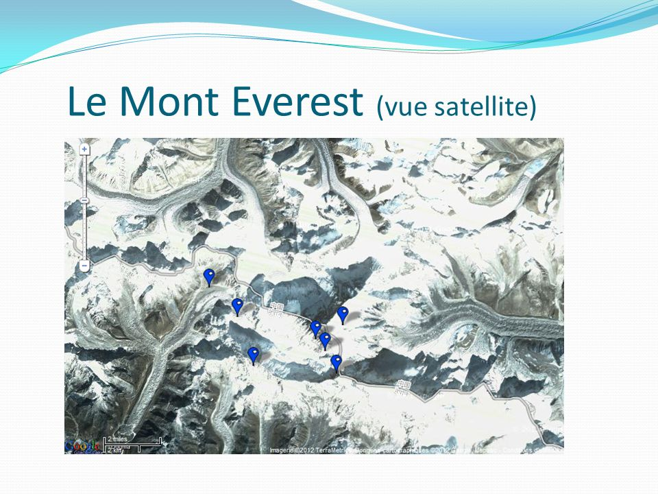 Le Mont Everest (vue satellite)