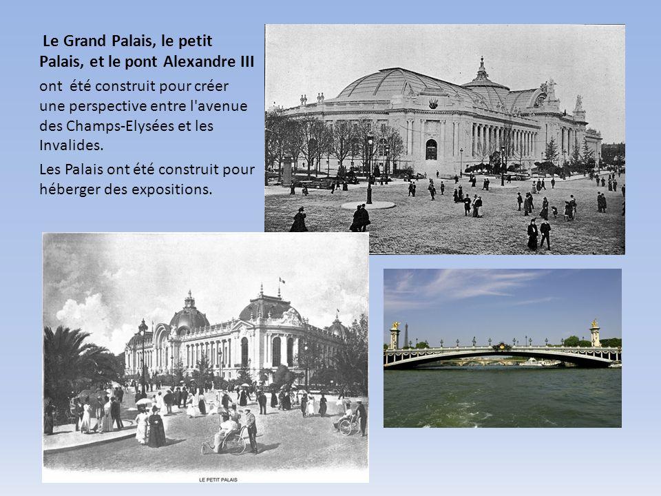 Le Grand Palais, le petit Palais, et le pont Alexandre III