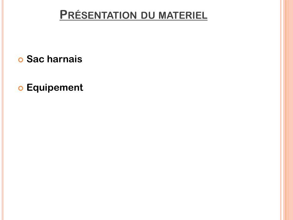 Présentation du materiel