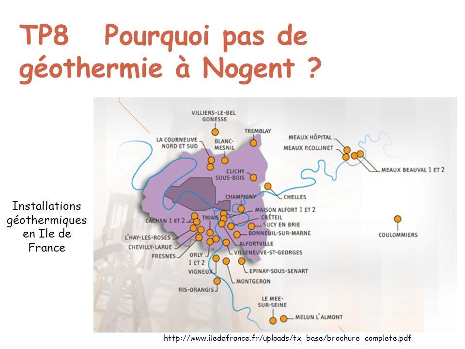 TP8 Pourquoi pas de géothermie à Nogent