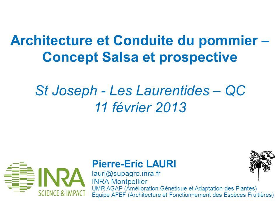 Architecture et Conduite du pommier – Concept Salsa et prospective St Joseph - Les Laurentides – QC 11 février 2013