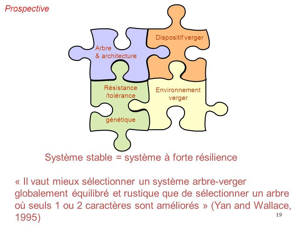 Système stable = système à forte résilience