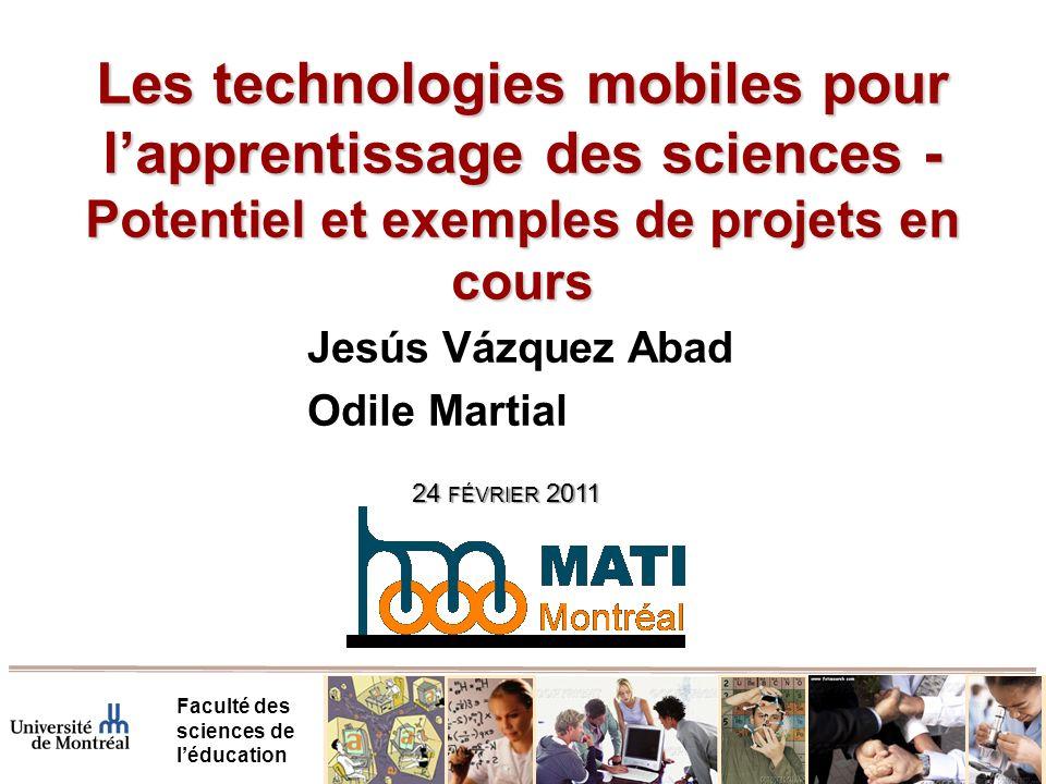 Les technologies mobiles pour l'apprentissage des sciences - Potentiel et exemples de projets en cours