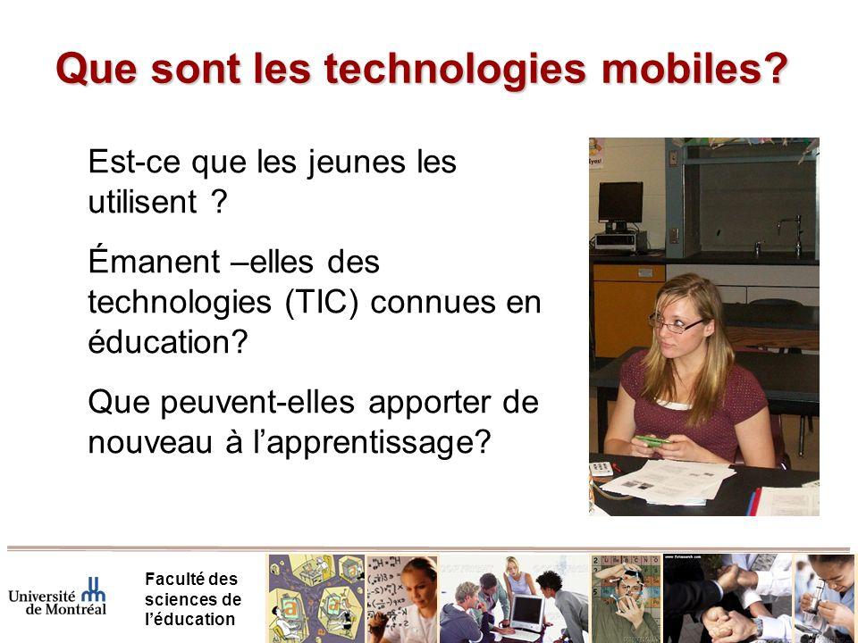Que sont les technologies mobiles