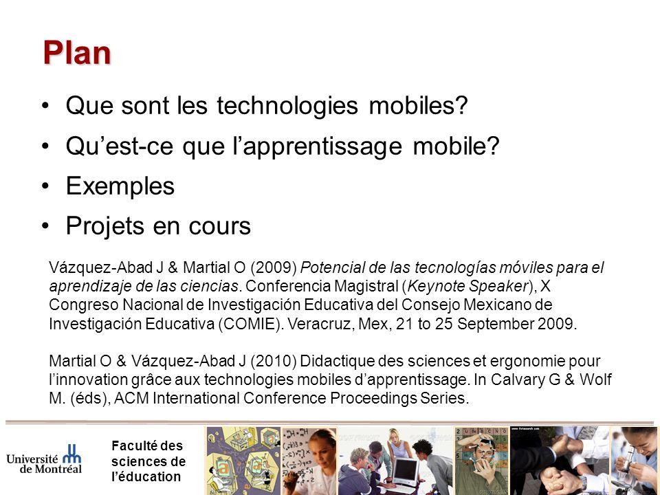Plan Que sont les technologies mobiles