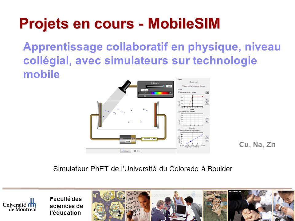 Projets en cours - MobileSIM