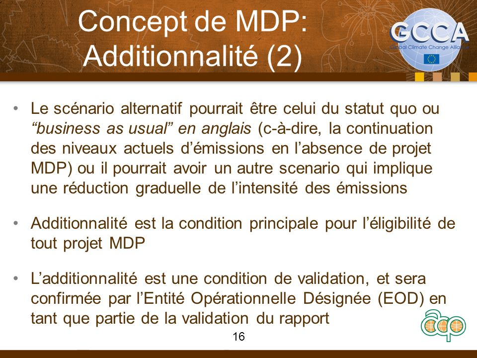 Concept de MDP: Additionnalité (2)
