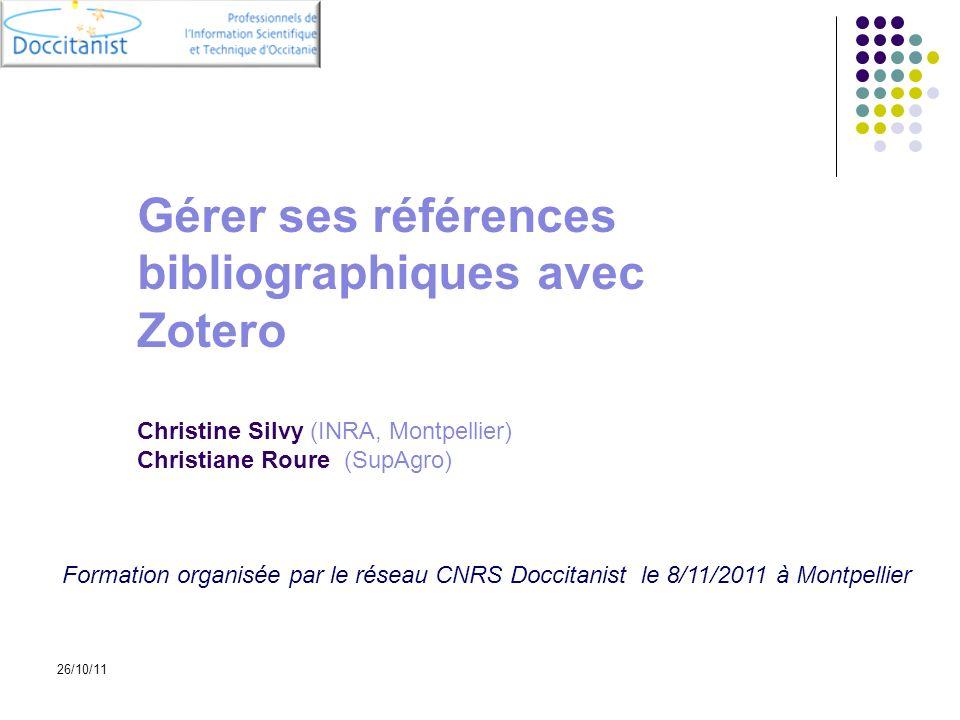 Gérer ses références bibliographiques avec Zotero