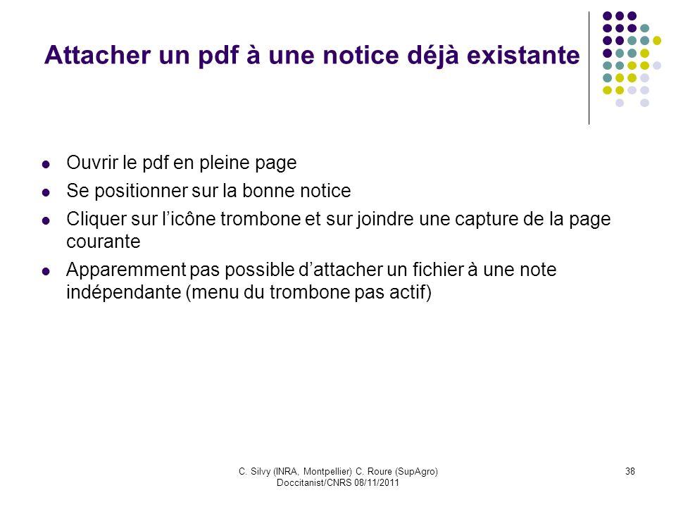 Attacher un pdf à une notice déjà existante