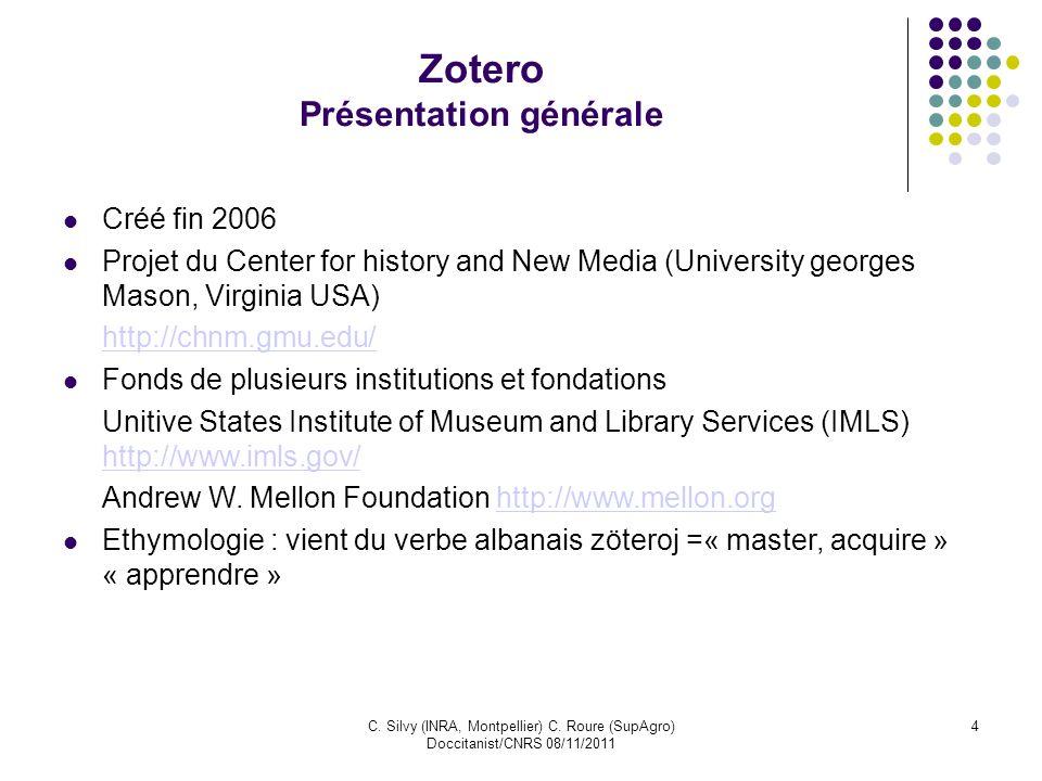 Zotero Présentation générale