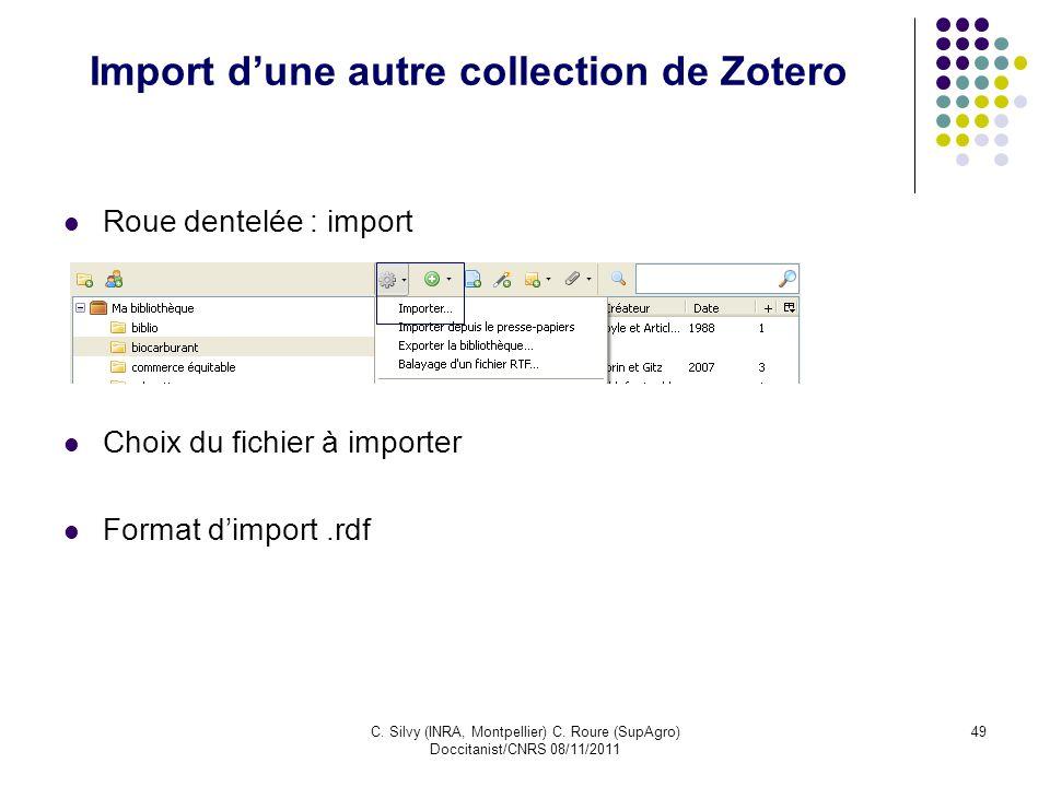 Import d'une autre collection de Zotero