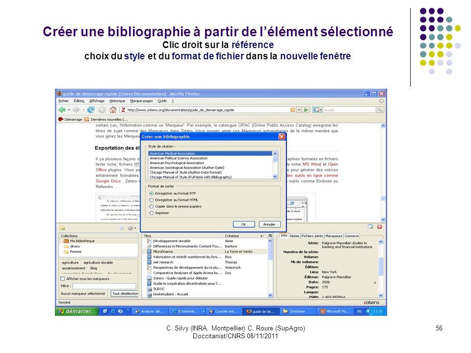 choix du style et du format de fichier dans la nouvelle fenêtre