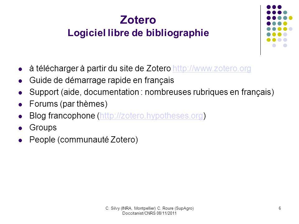 Zotero Logiciel libre de bibliographie