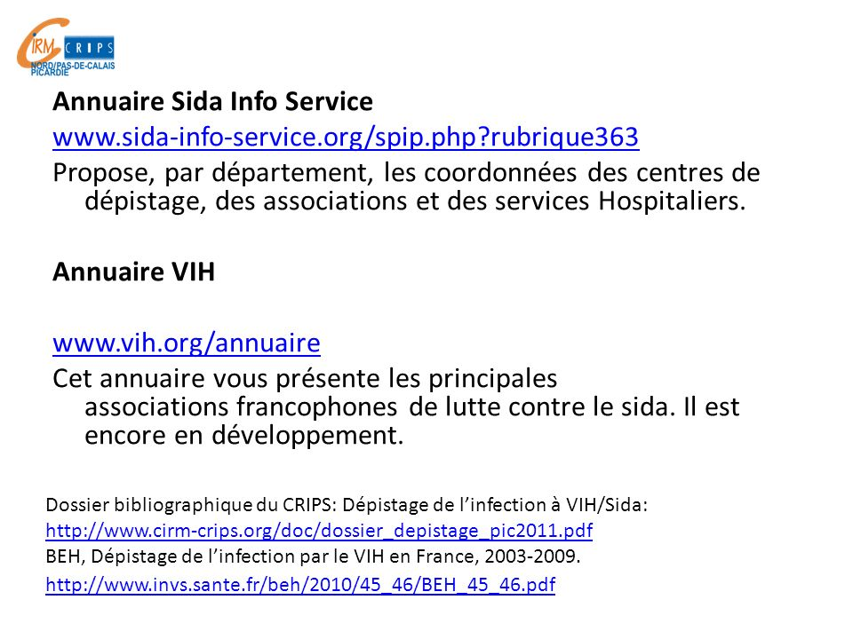 Annuaire Sida Info Service