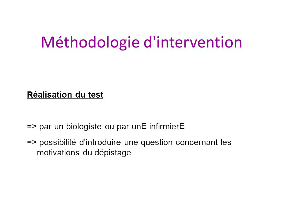 Méthodologie d intervention