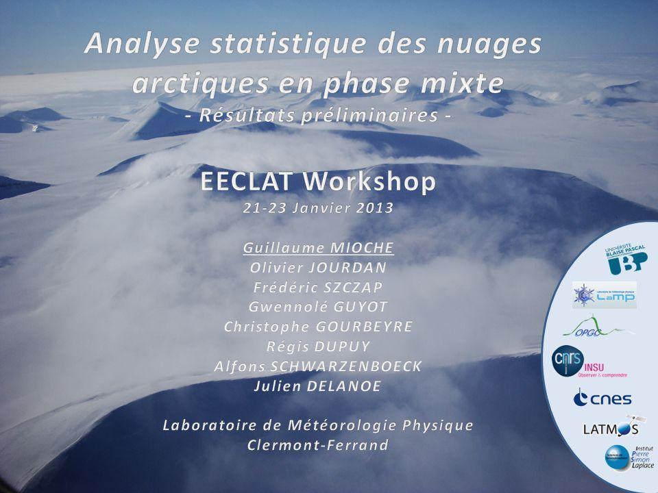 Analyse statistique des nuages arctiques en phase mixte