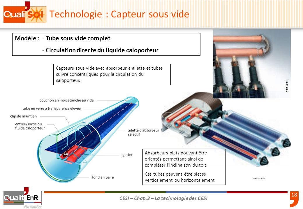 La technologie des cesi ppt t l charger for Chauffe eau solaire sous vide