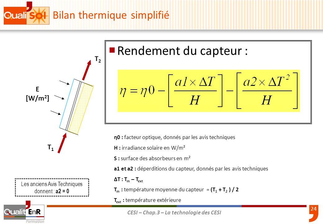 Bilan thermique simplifié