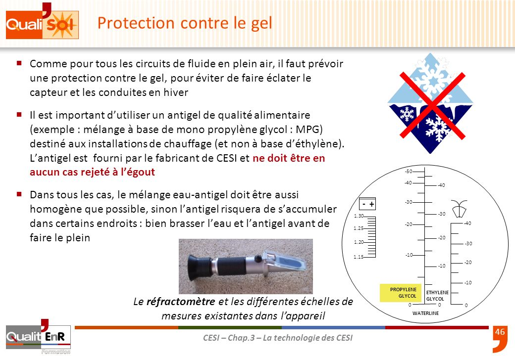 Protection contre le gel