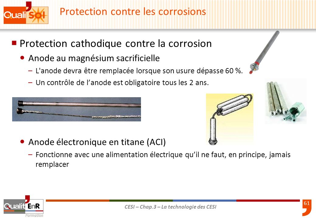 Protection contre les corrosions