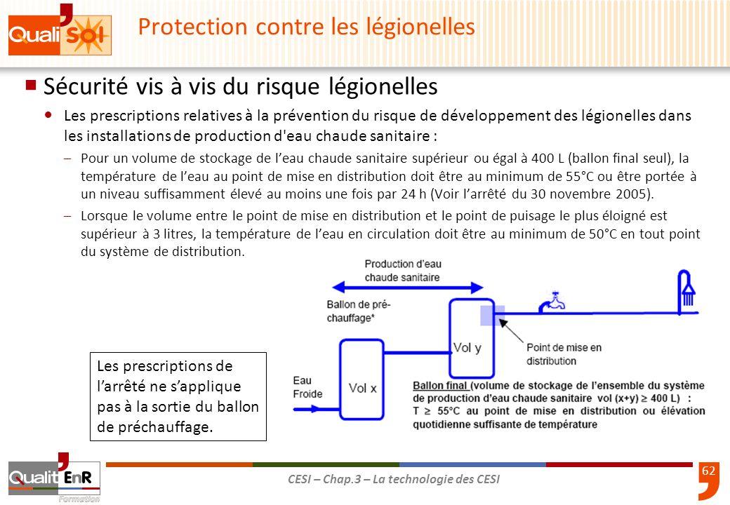 Protection contre les légionelles