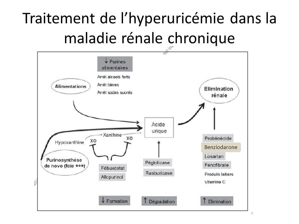 Traitement de l'hyperuricémie dans la maladie rénale chronique