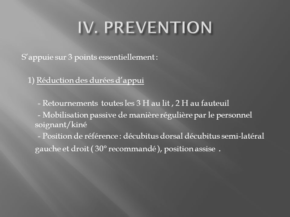 IV. PREVENTION