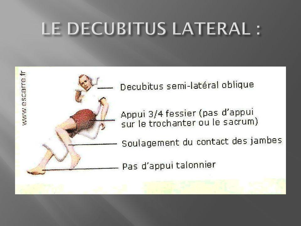 LE DECUBITUS LATERAL :