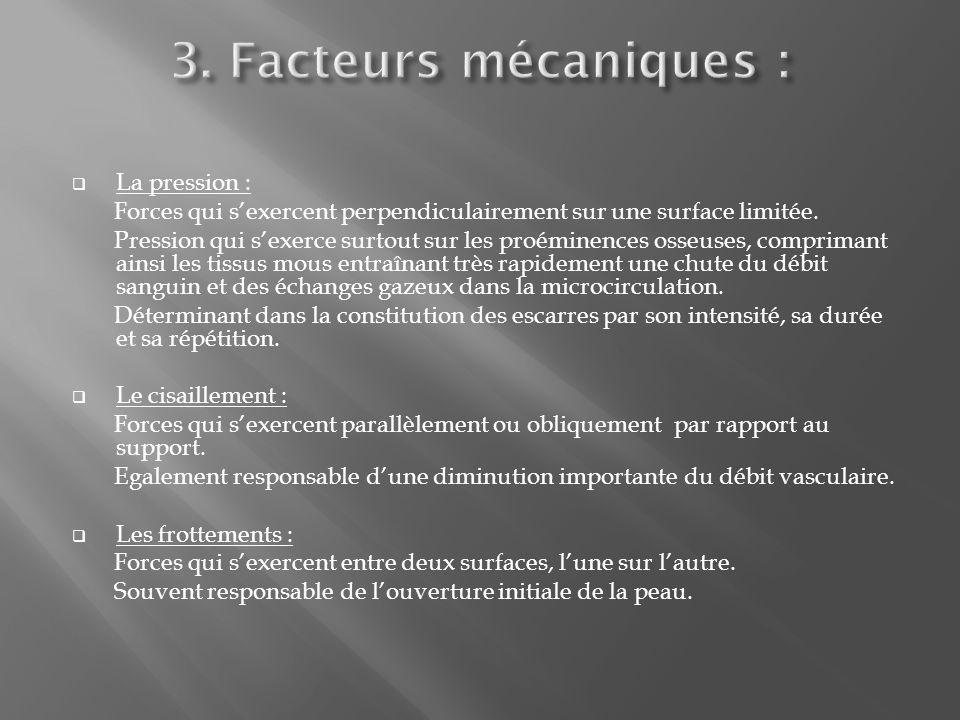 3. Facteurs mécaniques : La pression :
