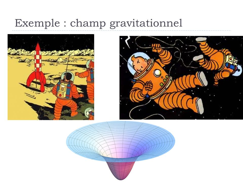Exemple : champ gravitationnel