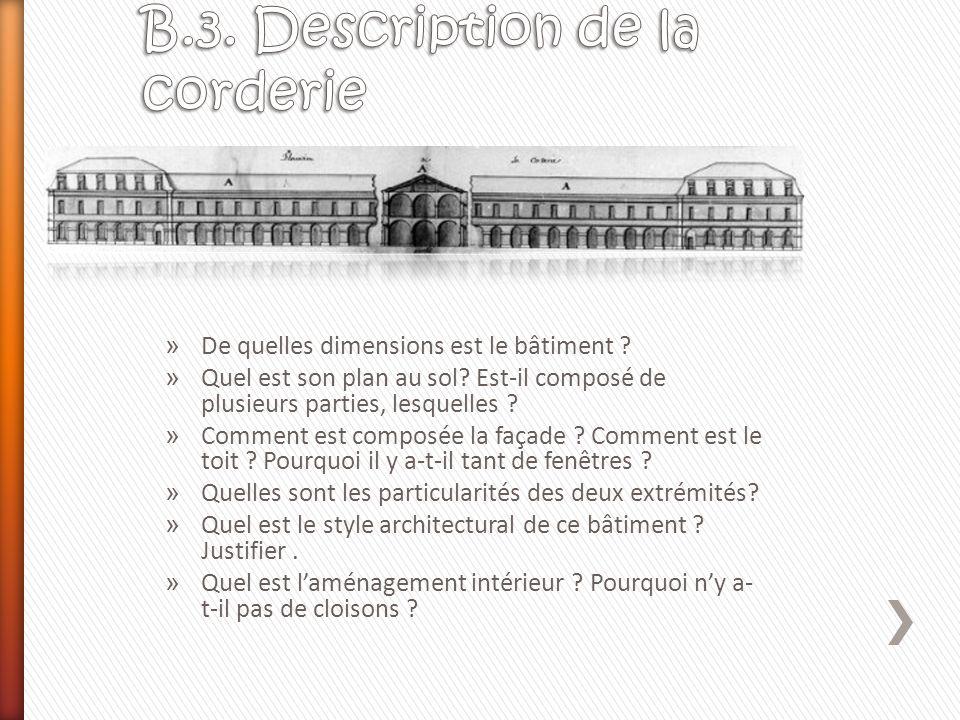B.3. Description de la corderie