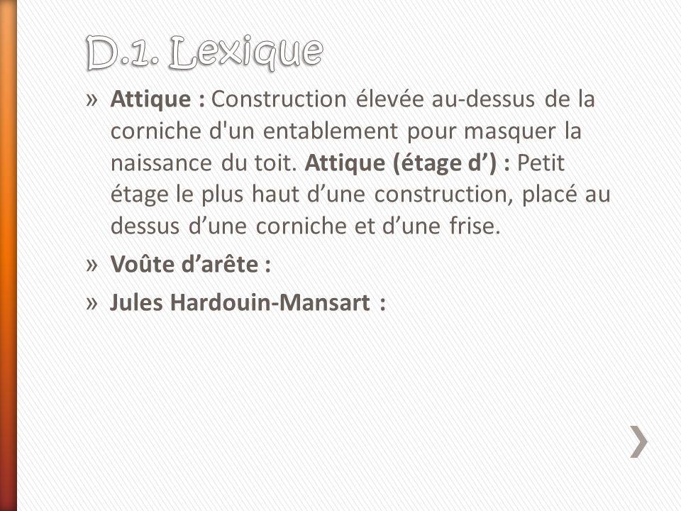 D.1. Lexique
