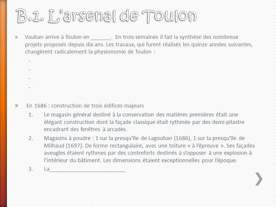B.1. L'arsenal de Toulon