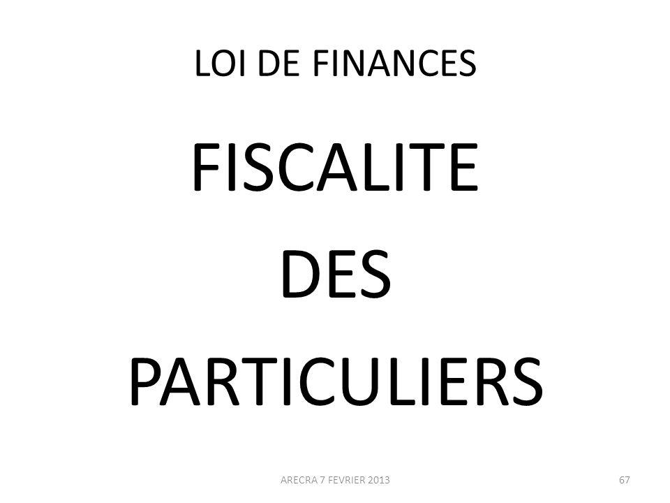 FISCALITE DES PARTICULIERS