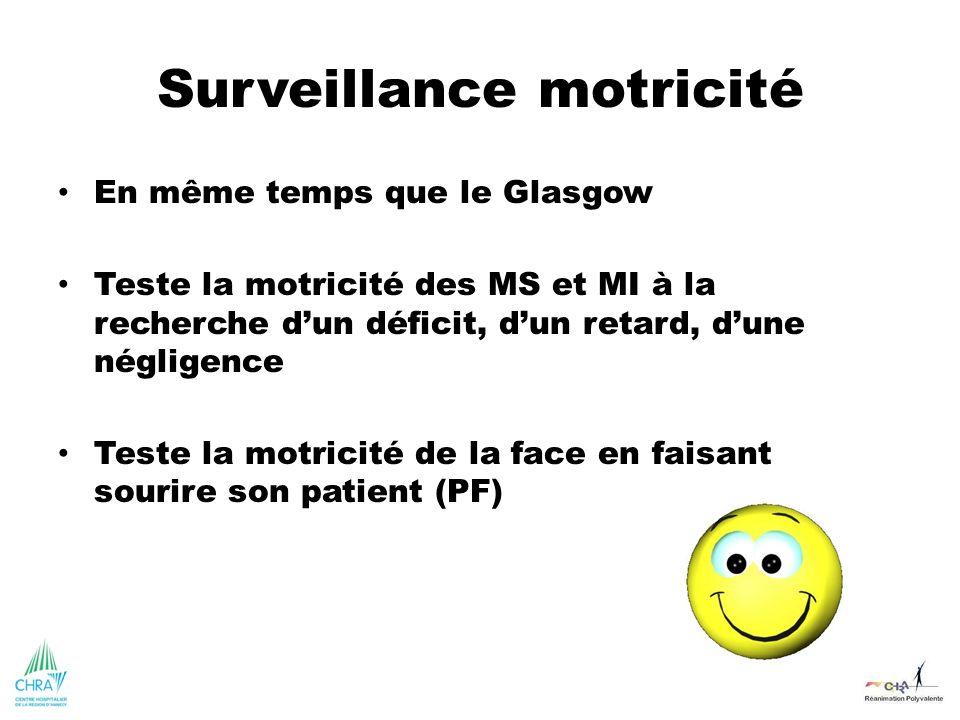 Surveillance motricité