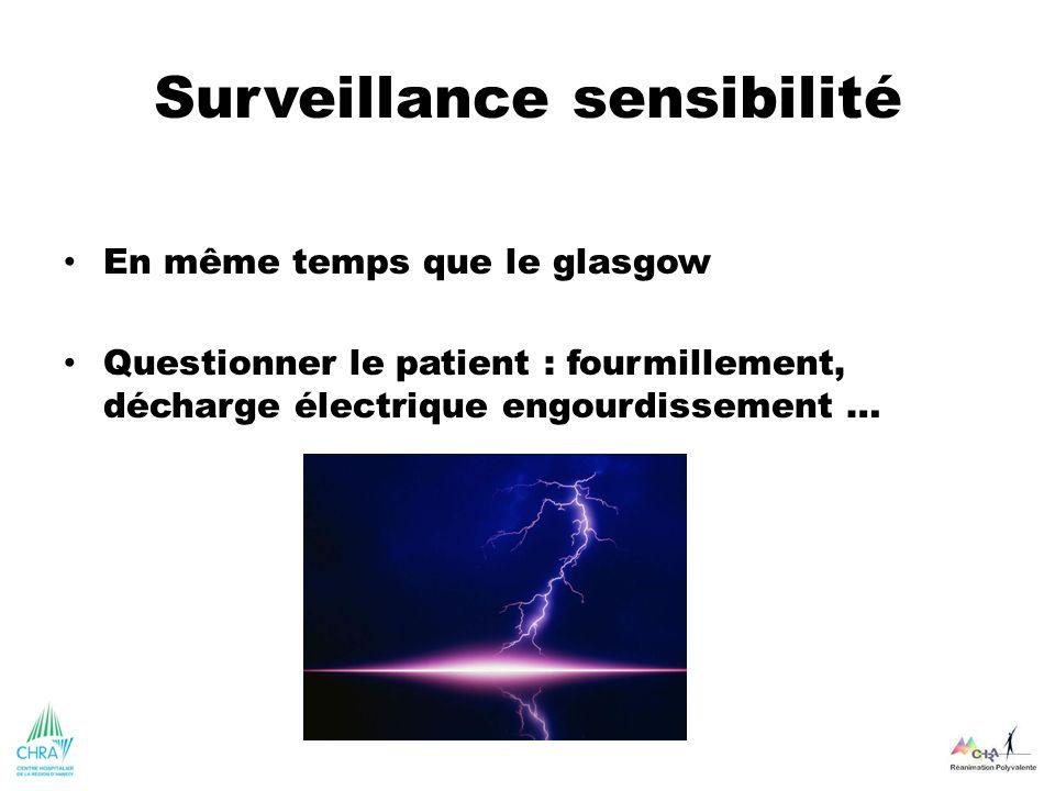 Surveillance sensibilité