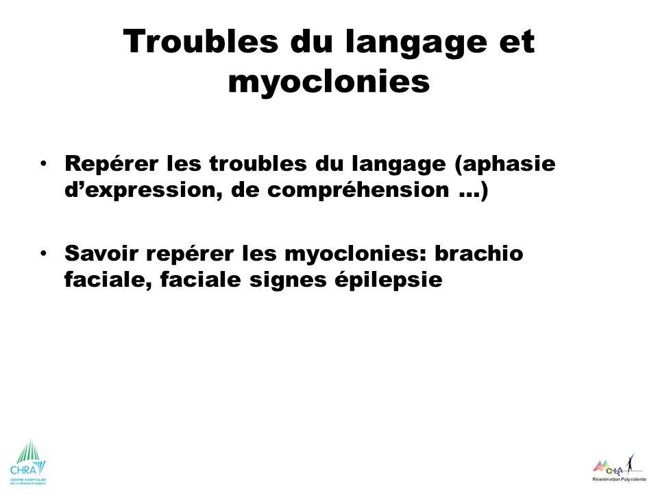 Troubles du langage et myoclonies