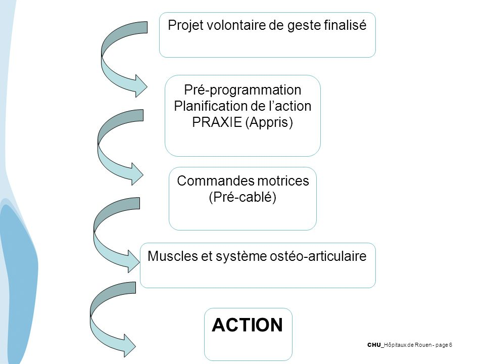 ACTION Projet volontaire de geste finalisé Pré-programmation