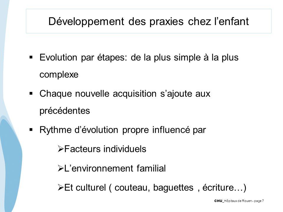 Développement des praxies chez l'enfant