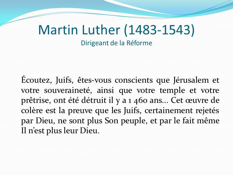 Martin Luther (1483-1543) Dirigeant de la Réforme
