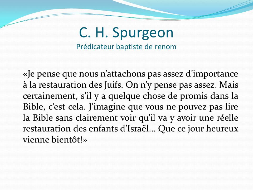 C. H. Spurgeon Prédicateur baptiste de renom