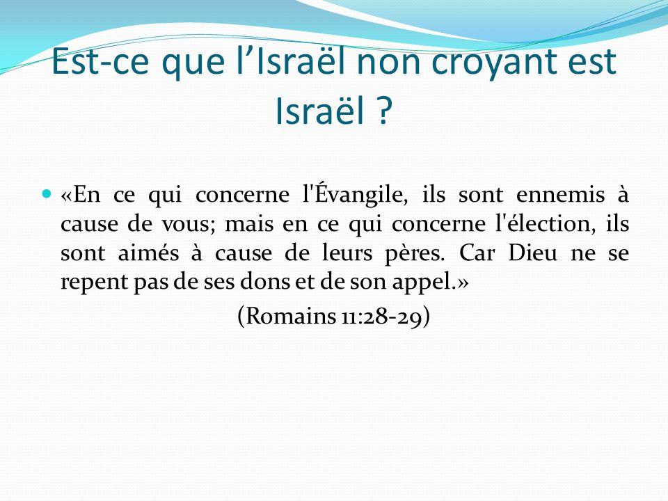 Est-ce que l'Israël non croyant est Israël