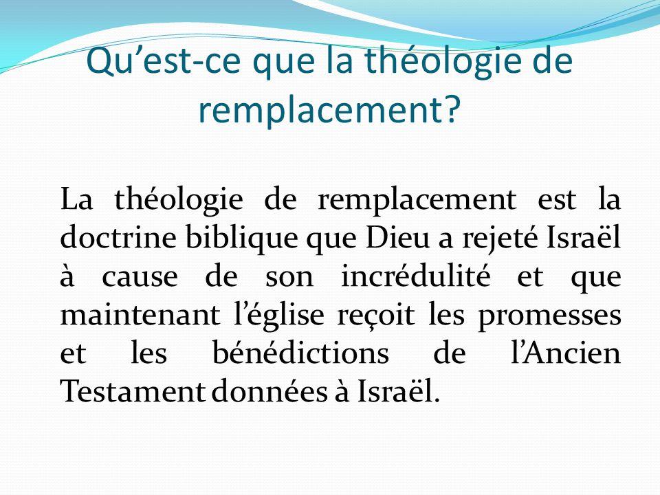 Qu'est-ce que la théologie de remplacement