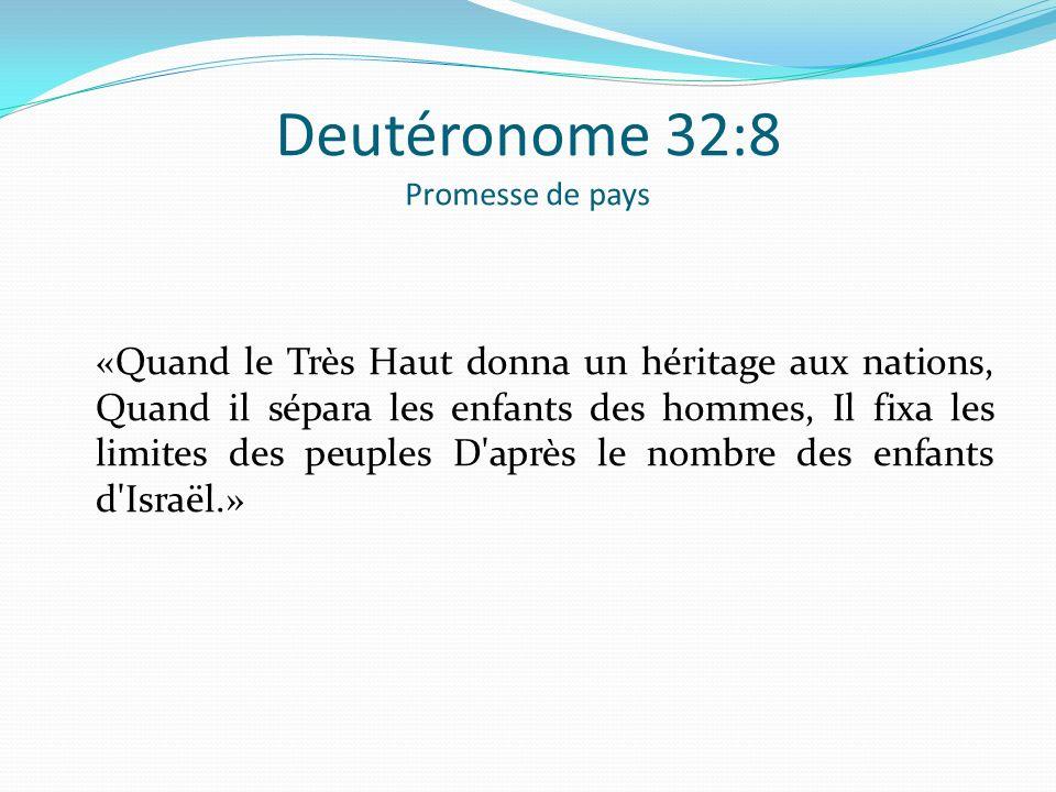Deutéronome 32:8 Promesse de pays