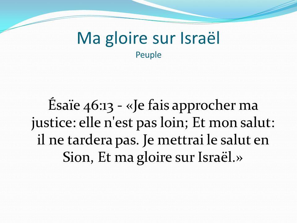 Ma gloire sur Israël Peuple