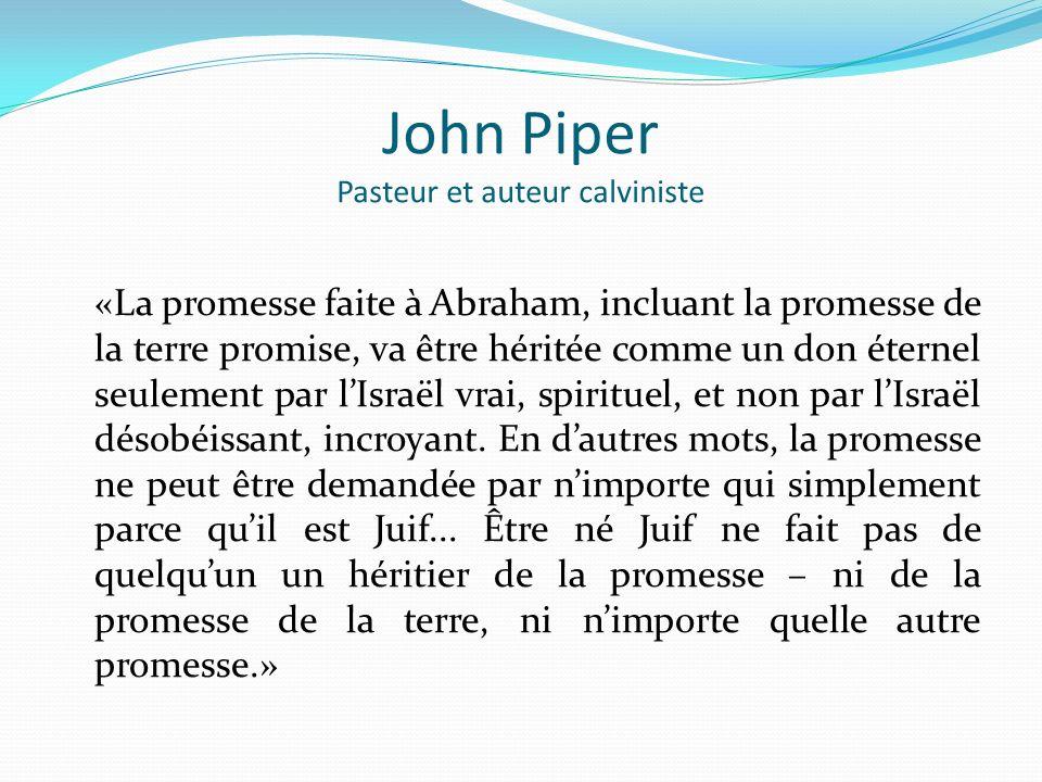 John Piper Pasteur et auteur calviniste