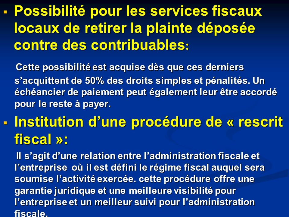 Institution d'une procédure de « rescrit fiscal »: