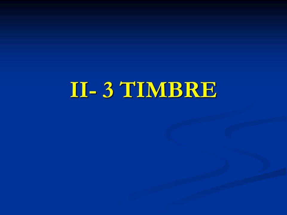 II- 3 TIMBRE
