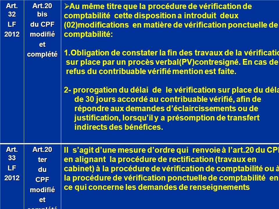 1.Obligation de constater la fin des travaux de la vérification