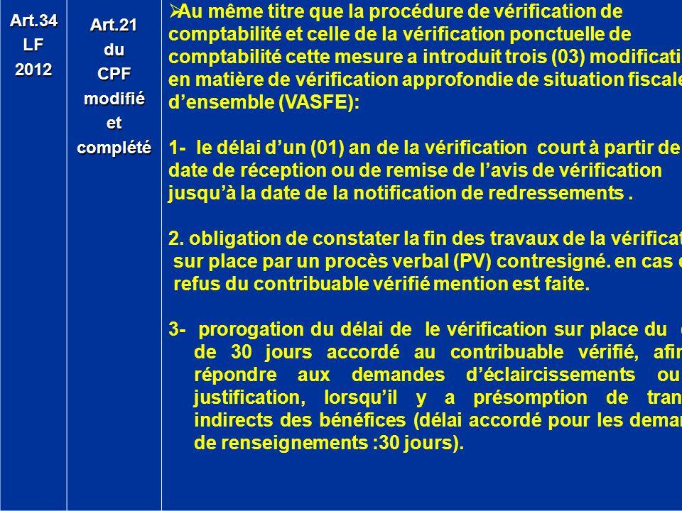 2. obligation de constater la fin des travaux de la vérification